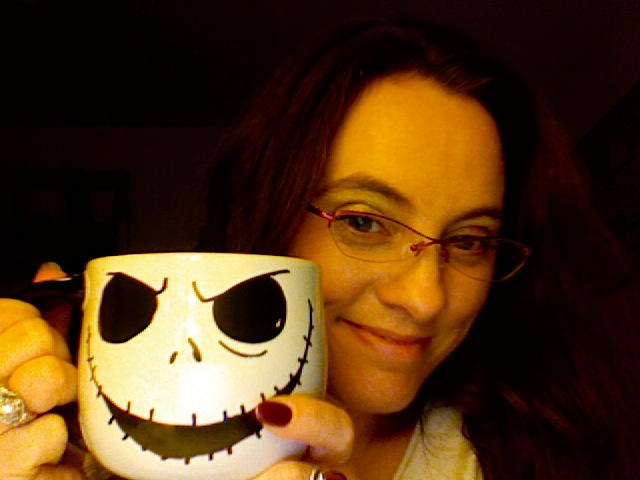 What could be better than the Pumpkin King's head filled with decaf chai?