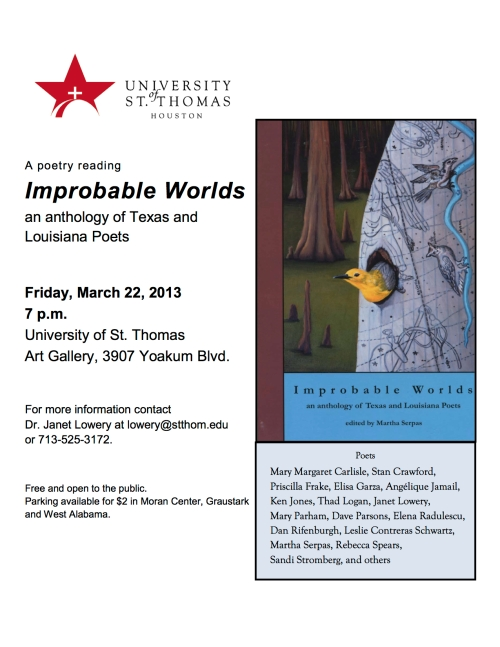 Improbable Worlds flyer