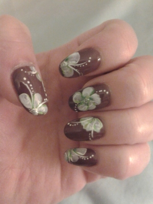 left hand tropical nail art