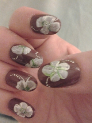 right hand tropical nail art