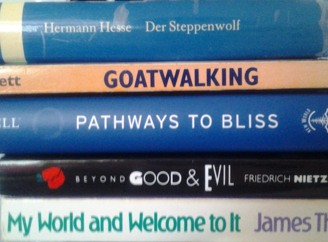 Der Steppenwolf Goatwalking Pathways to bliss Beyond good and evil My world and welcome to it
