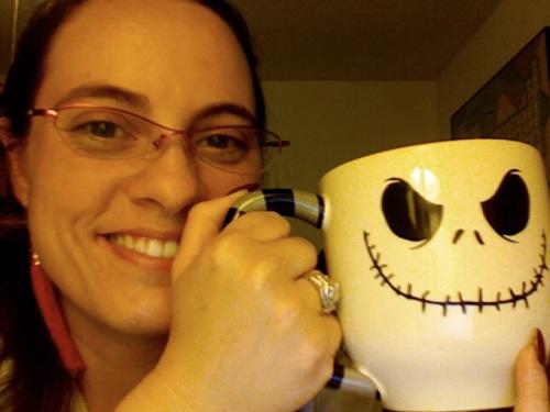 me with my new JS mug
