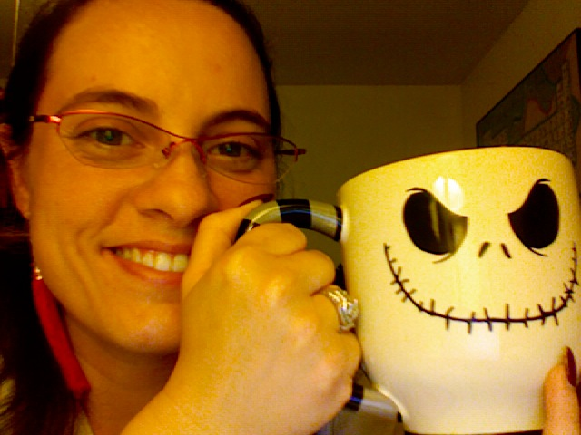 me with my new JS mug