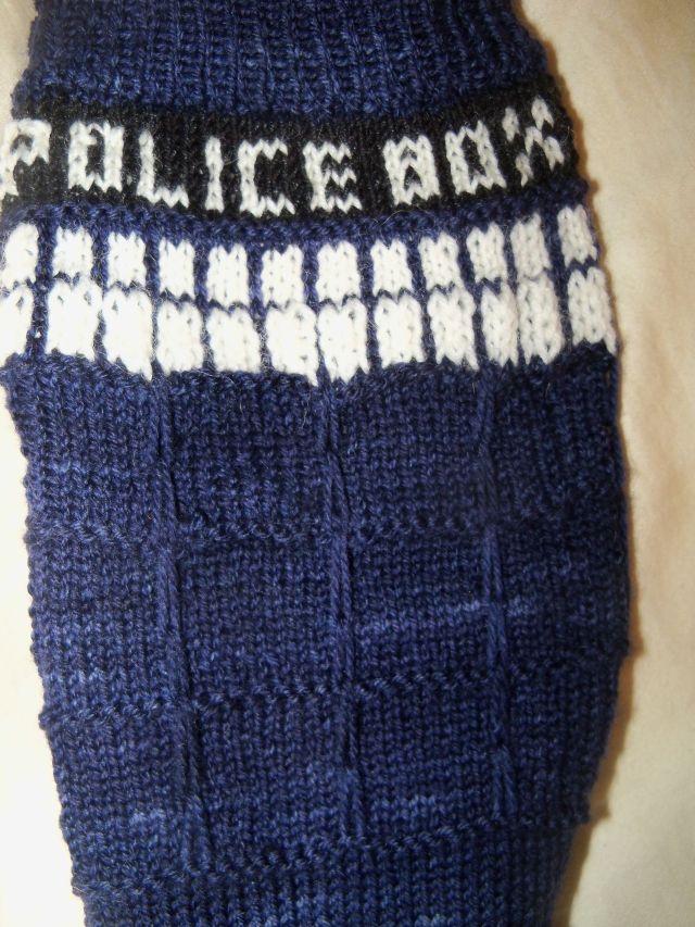 Sarah's Tardis sock #1