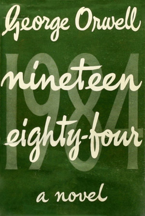 1984 by George Orwell, first edition cover