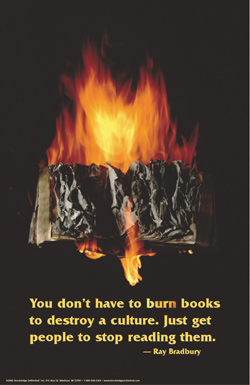 RB burning book poster