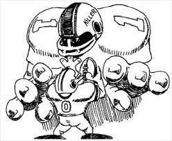 football players drawing