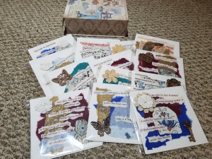 All 13 designs -- and yes, a lovely box does come with the full set of the cards.