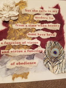 Poetry Art Card #1; text copyright Angélique Jamail, 2004