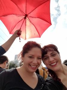 with my friend Tara